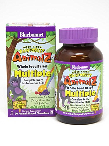 BLUEBONNET Nutrition Super Earth Rainforest ANIMALZ Whole Food Based Multiple for Children
