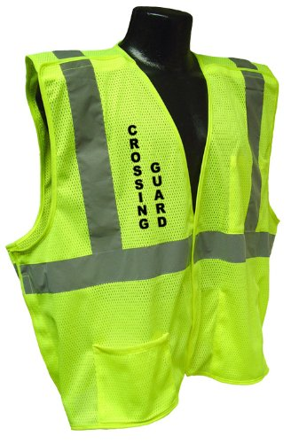 Radians Cl 2 Mesh Breakaway Crossing Guard Safety Vest (Green, X-Large) by Radians (Image #1)