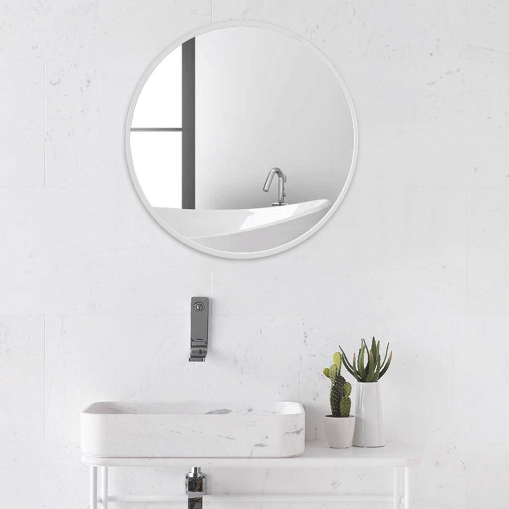 Nordic Bathroom Mirror Round Wrought Iron Frame Bedroom Mirror Wall Mounted Porch Decorative Mirror (Color : Gold, Size : 40cm) YXN