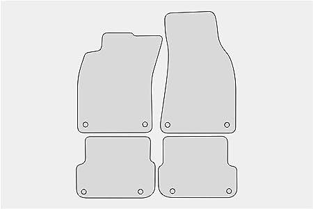 Teileplus24 Pv104r Fußmatten Gummimatten Sportline Design Bandeinfassung Ziernähte Bandeinfassung Rot Auto