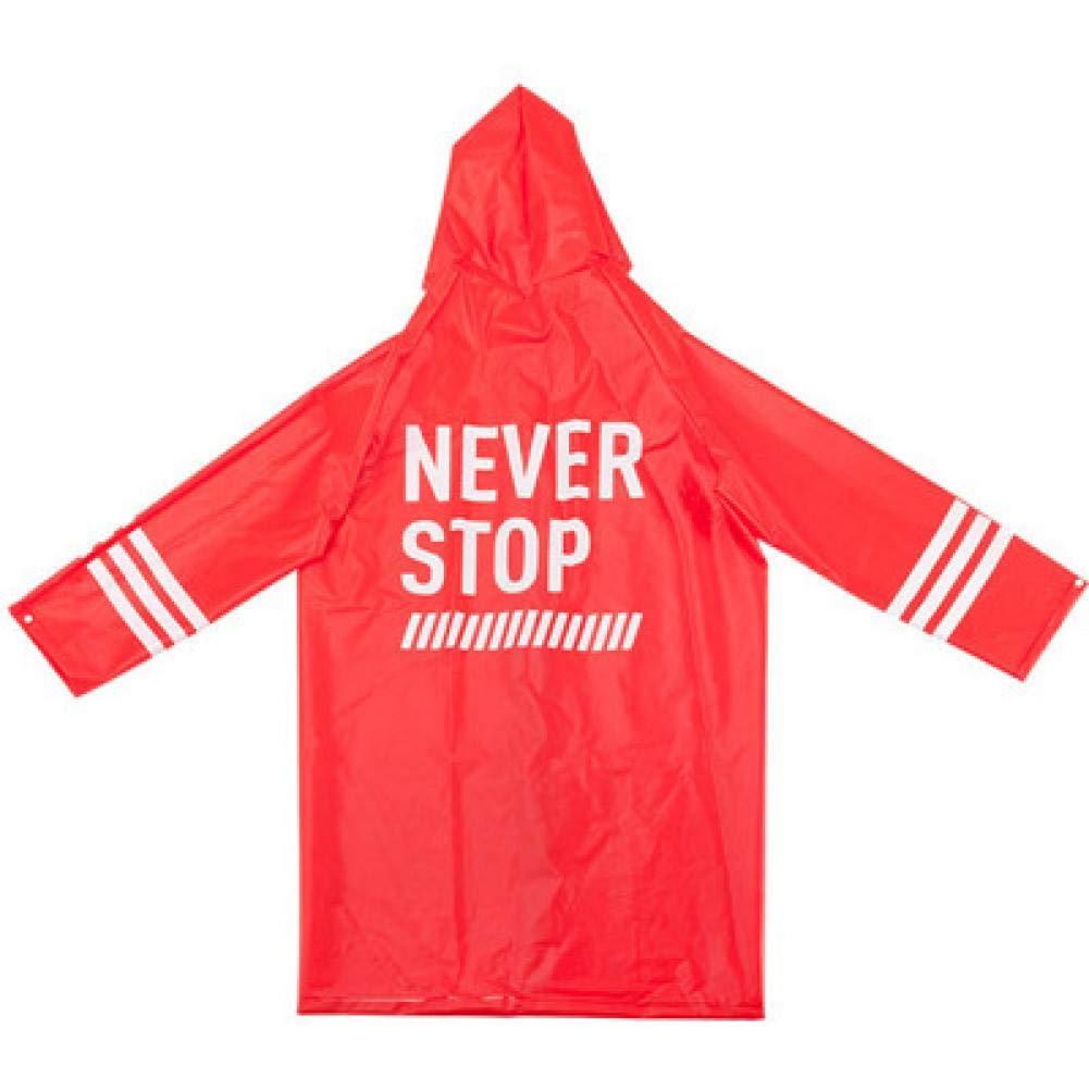rouge letters XL NHDYZ Imperméable Imperméable Mode Femme Manteau Version Coupe-Vent Adulte Randonnée Poncho pour Hommes