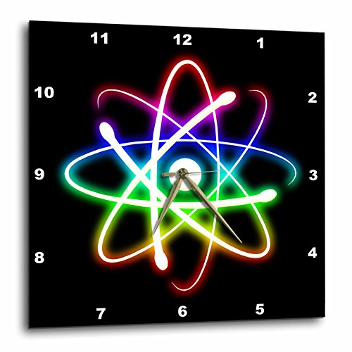 Cheap 3dRose dpp_24256_3 Atom Symbol Glowing on Black Background-Wall Clock, 15 by 15-Inch