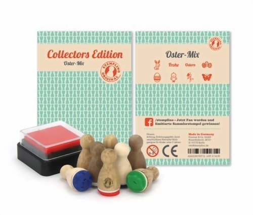 Ministempel - 8 Stück - Set zu Ostern - nicht nur für Kinder! Auch Erwachsene stempeln gerne - Holz Stempel Set zum Verschönern von Einladungskarten, Briefen, Tischkarten, Geschenken und vielem mehr