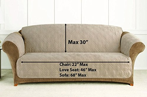 Superbe Amazon.com: Ablehome Quilted Microfiber Sofa Cover Chair Throw Pet Dog Kids  Furniture Protector (BLACK, CHAIR): Home U0026 Kitchen
