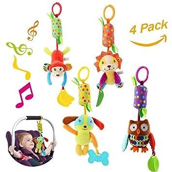 Amazon.com: Juguetes de sonajero para bebé, 4 piezas para ...