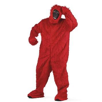 Limit Sport - Disfraz de peluche gorila para adultos, color rojo ...