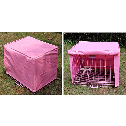 waterproof-dustproof-pet-dog-crate-cage-cover-outdoor-travel-protection-pink-size-medium-m