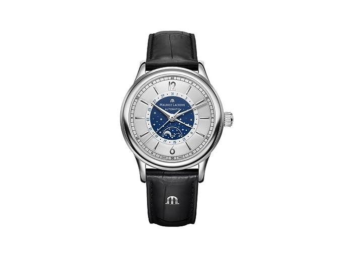 Reloj Automático Maurice Lacroix Les Classiques Moonphase, LC6168-SS001-122-1: Amazon.es: Relojes
