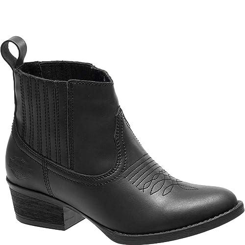 c55a8734d67 Harley Davidson - Botas Estilo Motero de Cuero Mujer  Amazon.es  Zapatos y  complementos