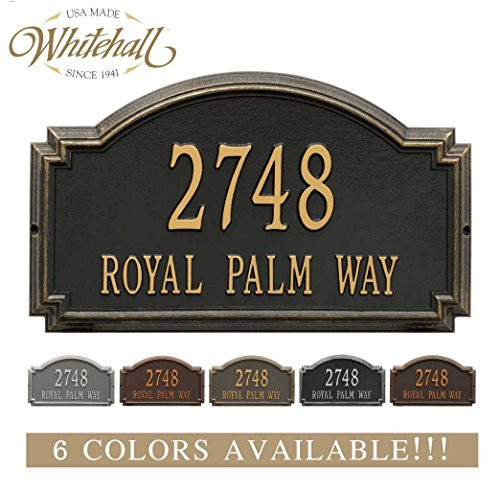 - Metal Address Plaque Personalized Cast The Williamsburg Estate. Display Your Address and Street Name. Custom House Number Sign.