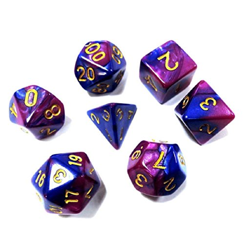 7pcs/Set TRPG Game Dungeons & Dragons Polyhedral D4-D20 Multi Sided Acrylic Dice ,By Gbell (A)