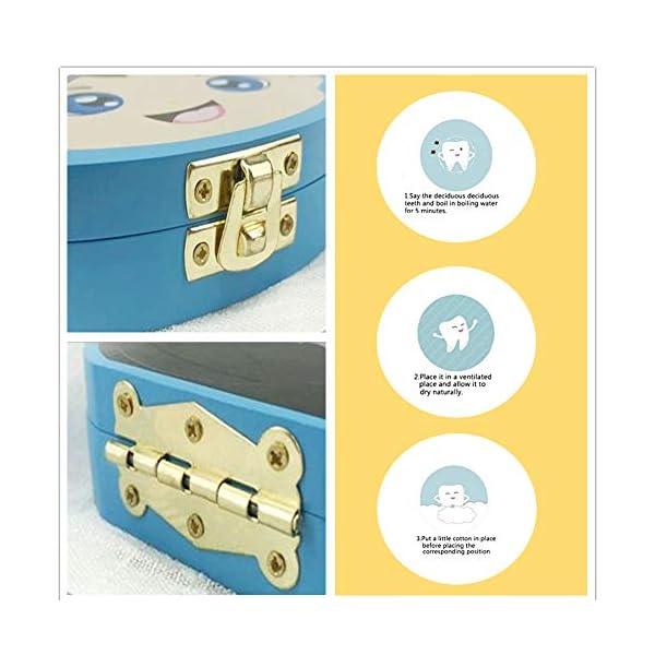 Caja Para Dientes,Caja Para Dientes de Leche Personalizada,Caja Para Guardar Dientes Para Niños y Niñas,Caja de Madera… 8