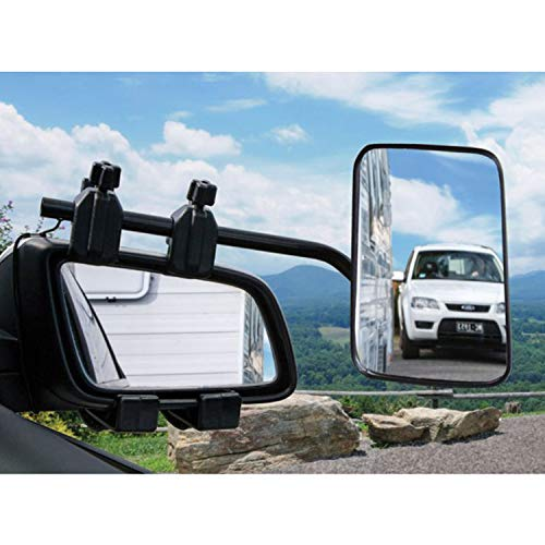On Clip Towing Mirrors - Homeon Wheels Clip-On Towing Mirror, Universal Extended Mirror and Extra Wide Adjustable for Caravan Camper Boat Trailer