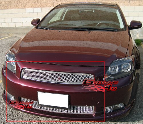 APS Compatible with 2004-2007 Scion TC Stainless Steel Mesh Grille Grill Combo Insert RE-T77930T