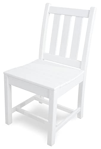 POLYWOOD TGD100WH Traditional Garden Dining Side Chair, White