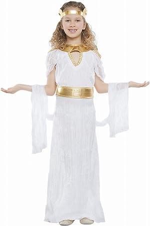 Disfraz de Diosa Griega Largo para niña: Amazon.es: Juguetes y juegos