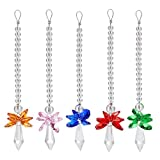 Duosuny Rainbow Guardian Angel Crystal Suncatcher For Home/Car Decoration & Porch Decor & Hangings Crystal Glass Ornament (Color-A)