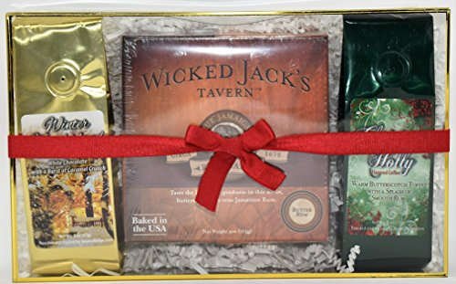 Wicked Jack's Tavern Jamaican Rum Cake with Butterscotch Toffee and White Chocolate Coffee Gift Set