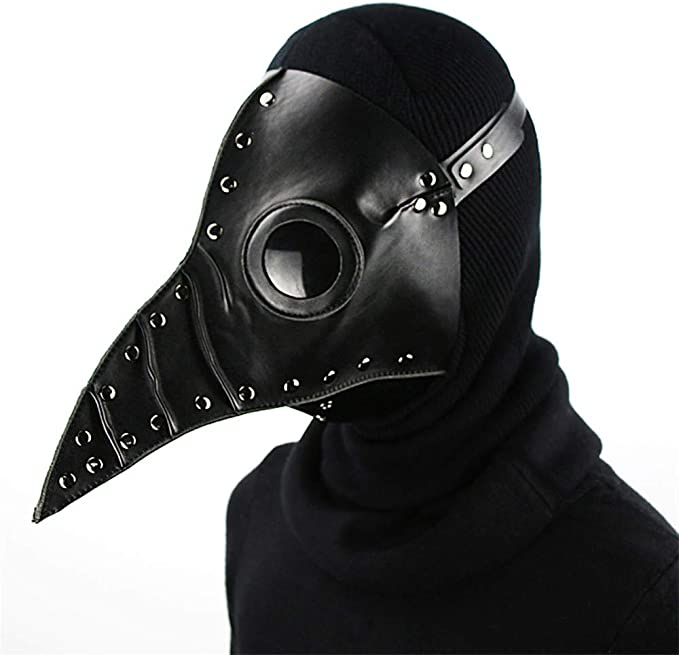 Amazon.com: Steampunk Cospaly pico máscaras Plague Doctor PU ...