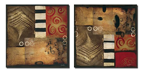Industrial Nature I Modern, Retro Abstract Collage Two Poster Prints