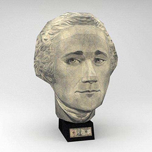 Wizhead US $10 Bill - Alexander Hamilton 3D Paper Puzzle