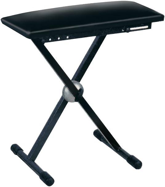 Soundlab G001 XJ teclado con altura regulable Taburete con patas plegables.