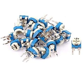 eDealMax 20Pcs UKM-065 1K Ohm 3 terminales del condensador de ajuste del potenciómetro resistencia Ajustable: Amazon.com: Industrial & Scientific
