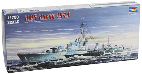 Trumpeter 1 700 Hmcs Huron  G24  British Tribal Class Destroyer 1944 Model Kit