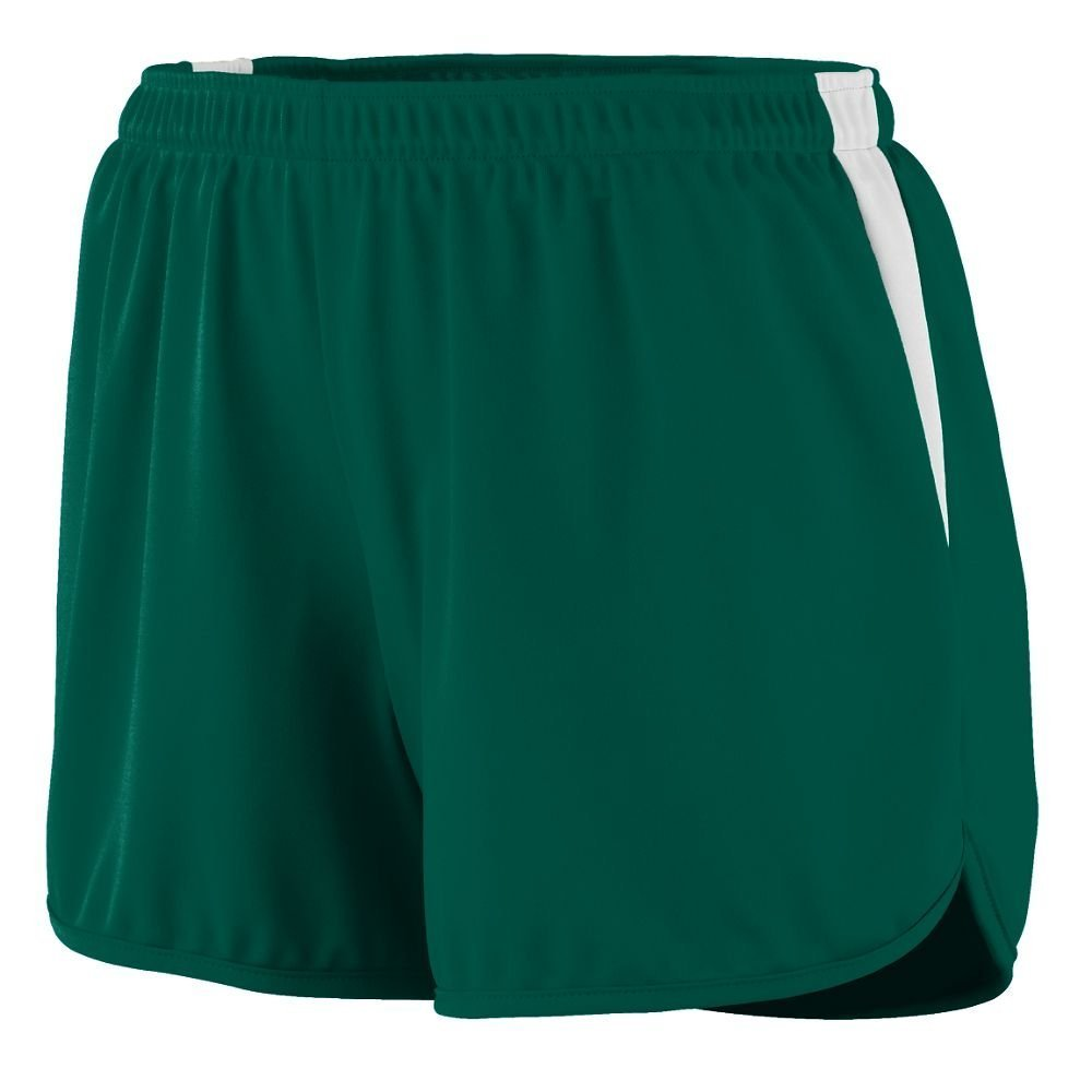 347 AG LAD VELOCITY TRACK SHORT DARK GREEN/ WHT 2XL