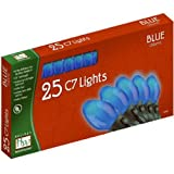 Outdoor Patio Party Christmas Lights Set Blue Ceramic 25-Count C7
