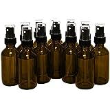 12, Reehut 15ml Empty Glass Spray Bottles with Black Fine Mist Sprayer for Misting Aromatherapy, Essential Oils, Cleaning, Room Sprays (Amber)