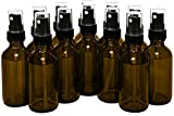 empty bottles for essential oils - 15ml (0.5oz) Empty Glass Spray Bottles (12 pack) - Refillable Containers with Black Fine Mist Sprayer for Misting Aromatherapy, Essential Oils, Cleaning, Room Sprays (Amber)by THETIS Homes