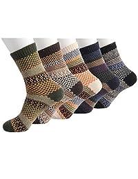 5 Pairs Winter Socks Warm Thick Rabbit Wool Socks Casual Dress Sport Socks for Men