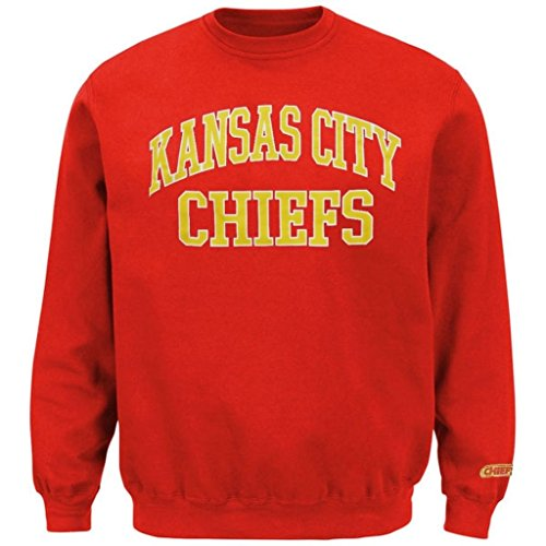 Kansas City Chiefs NFL Mens Backfield Crew Neck Sweatshirt Red Big Sizes (6XL) - Kansas City Chiefs Crew Sweatshirt