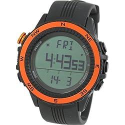 [Lad Weather] German Sensor Digital Compass Altimeter Barometer Chronograph Alarm Weather Forecast Outdoor Wrist Sports Watches (Climbing/ Hiking/ Running/ Walking/ Camping) Men's