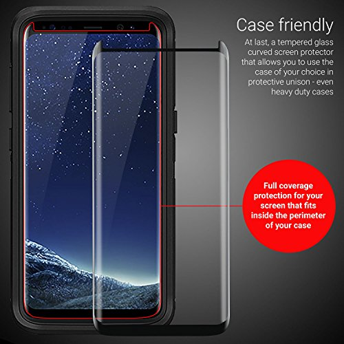Image of Olixar Samsung Galaxy S8 Plus Case Friendly Glass Screen Protector (