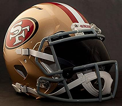 3c52fc2a1 Image Unavailable. Image not available for. Color  Riddell Speed SAN  Francisco 49ers NFL Authentic Football Helmet with Dark-Tint Eye Shield