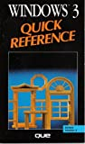 Windows 3 Quick Reference, Que Development Group Staff, 0880226315