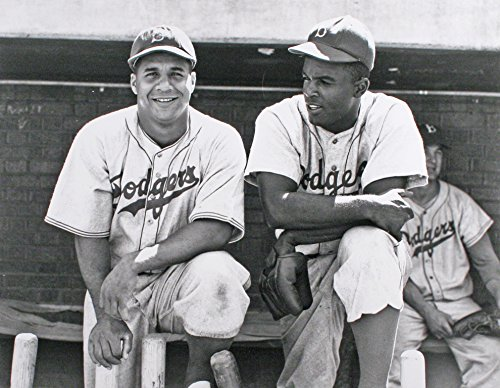 - Brooklyn Dodgers Jackie Robinson And Roy Campanella Together in 1948. 8x10 Photo Picture mf