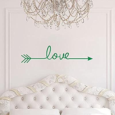 Iuhan® Fashion Love Arrow Decal Living Room Bedroom Vinyl Carving Wall Decal Sticker for Home Decoration