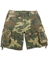 Woodland Camouflage Vintage Infantry Utility Shorts