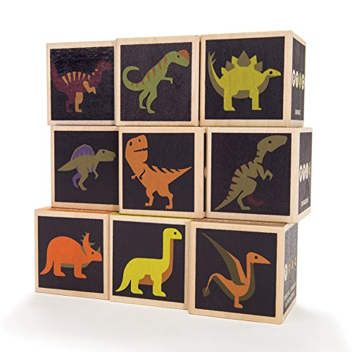 Uncle Goose Dinosaur Blocks - Made in The - Goose Uncle Abc Blocks
