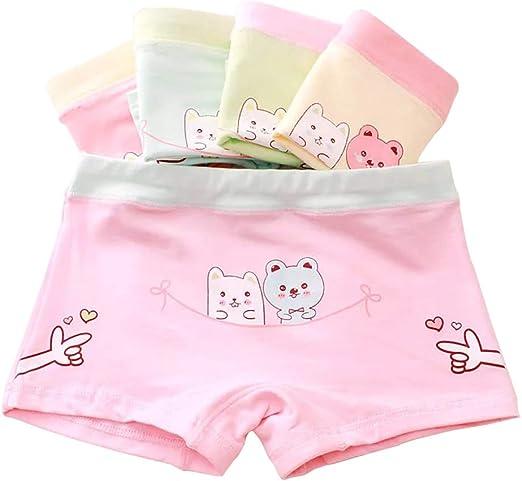 Girls Underwear Cotton Character Panties Comfortable Soft Short Boxer 5 Pcs Wear