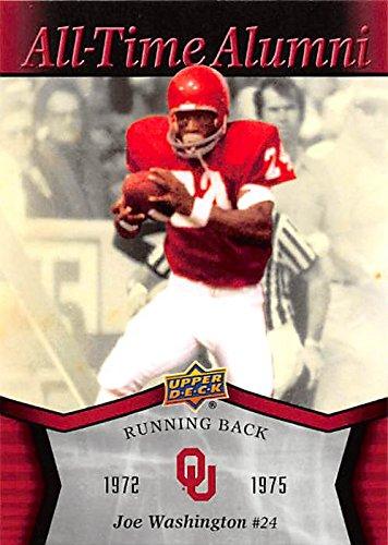 Joe Washington football card (Oklahoma Sooners) 2011 Upper Deck All Time Alumni #ATA-JW Running Back
