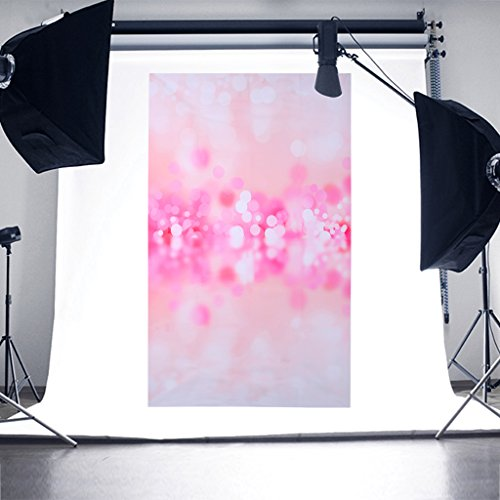 SCASTOE Wedding Party Photography Backdrop Pink Glitter Bokeh Photography Background Computer printed Seamless Studio Background Props