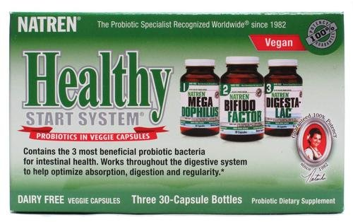 Natren Healthy Start System Kit Capsules 30 Caps, Dairy Free