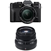 Fujifilm X-T10 Black w/XF18-55mm & XF35mm F2 Black Lens (Old Model)