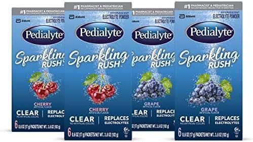 Electrolyte Powder & Drinks: Pedialyte Sparkling Rush
