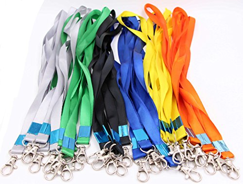 Neck Lanyards for Id Badges - LeBeila Id Badge Lanyard Bulk Order 30pcs Nylon Neck Strap for Badges, ID Holder & Cards (30pcs, Multi)