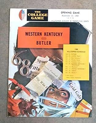 Butler University Western Kentucky College Football Program - 1968 - Ex